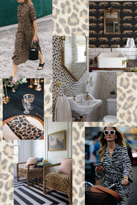 August mood board monday animal print