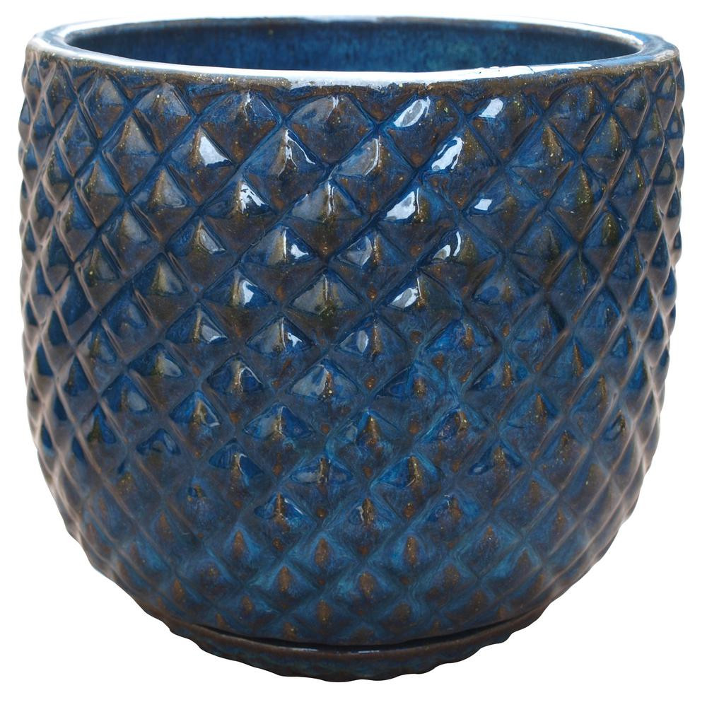 Blue planter pot