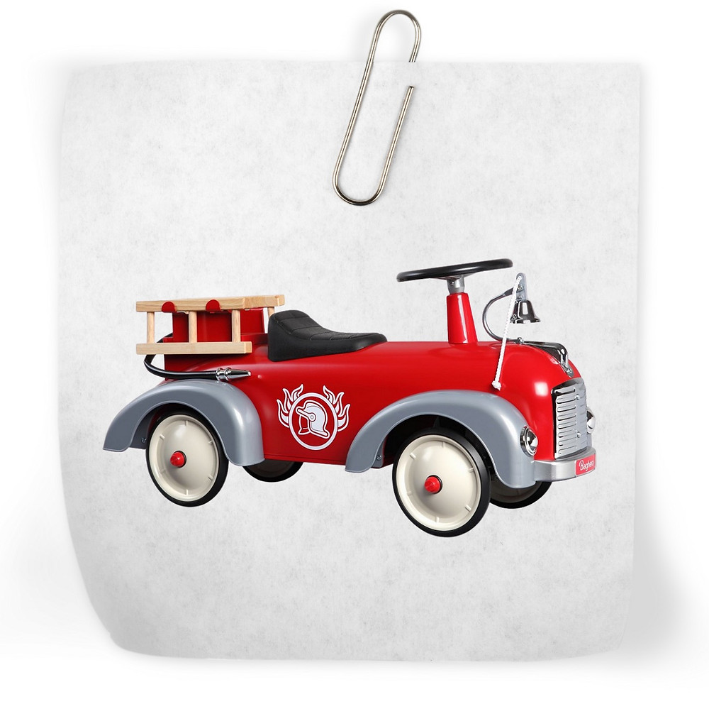 Fire engine kids metal classic ride on truck