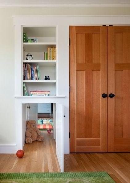 jib hidden secret concealed Murphy bookcase door interior design