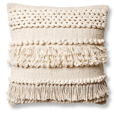 Tassel pillow eclectic office