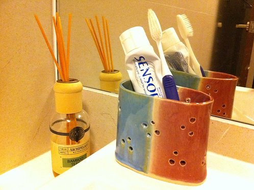 Toothy Toothbrush and Toothpaste Holder