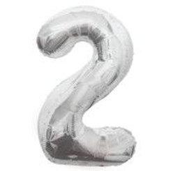 """Balloon Foil 34"""" 2 Silver"""