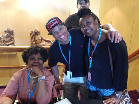Shirley CESAR rencontre avec la famille BEAUJOUR lors de la croisière Gospel