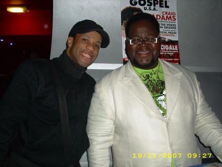 Craig ADAMS Chanteur de gospel Américain avec Marc