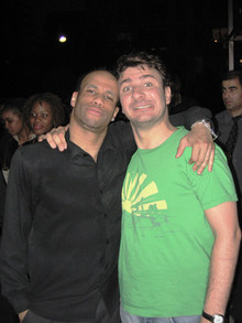 "Mickaël YOUN (acteur) lors du tournage du film ""INCONTROLABLE"" 2005"