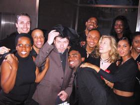 Régis LASPALES avec GLH lors du tournage du film INCONTROLABLE en 2005