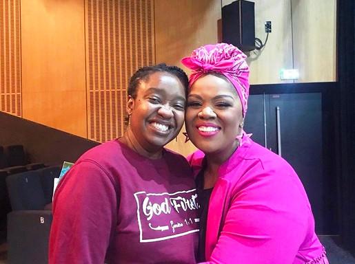 Cheryl PORTER Chanteuse américaine et coach vocale avec Claire lors de sa masterclasse en 2019