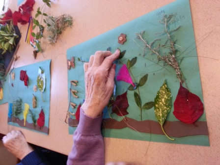 Working on dexterity making collages