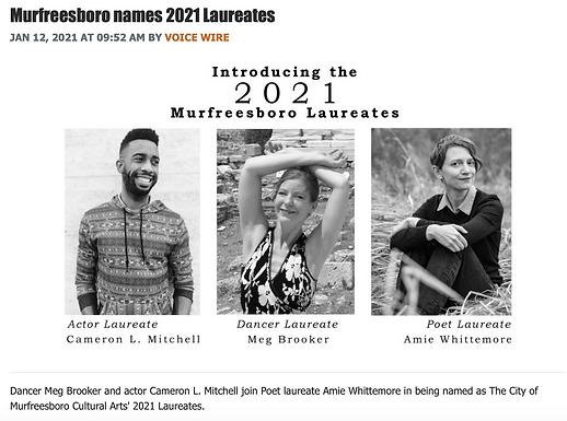 Murfreesboro Names 2021 Laureates