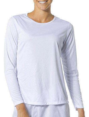 Ladies Caliente Shirt Long Sleeve moisture wicking white or gray