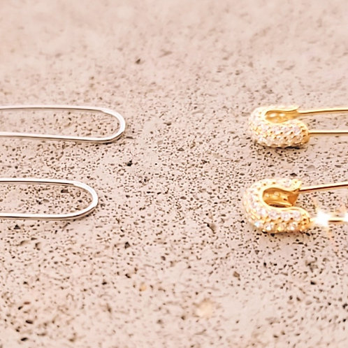 Safety Pin Earrings 2.0