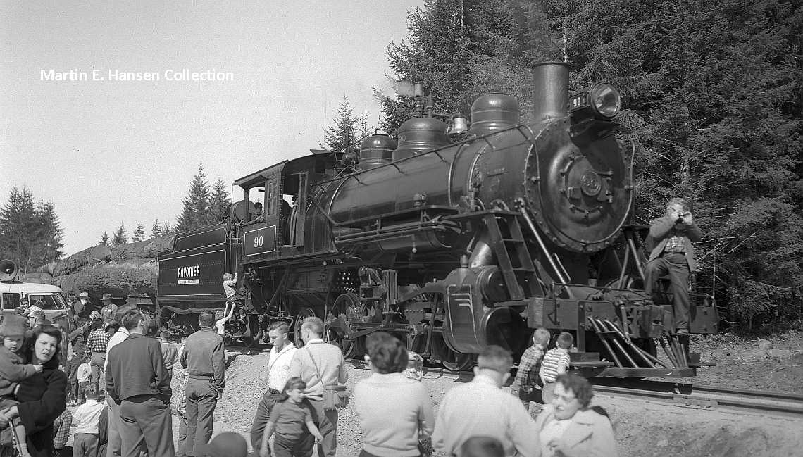 "Rayonier #90 at ""Farewell to Steam"" Event March 31, 1962"