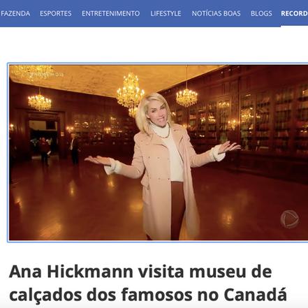 Record TV, Hoje em Dia, Ana Hickmann in Toronto, Dec 19