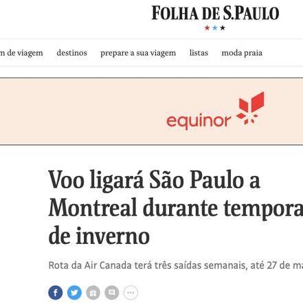 Folha de São Paulo Newspaper, Dec 19