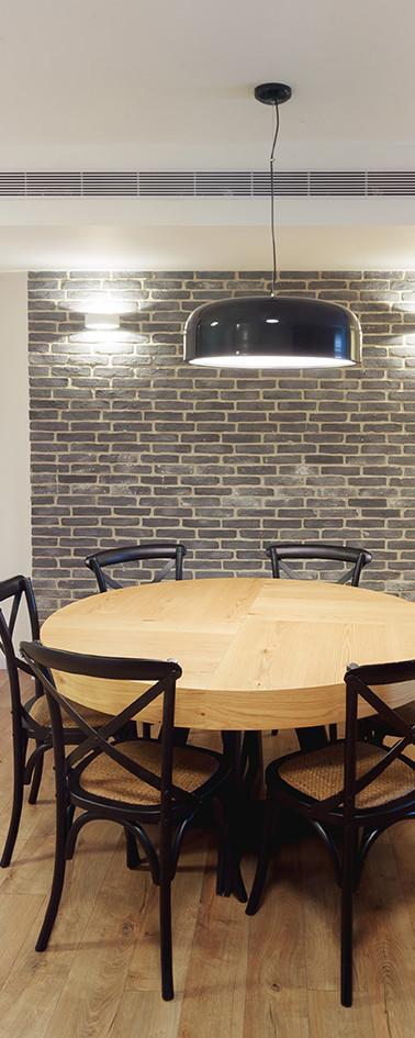 מטבח, חדר אוכל וסלון