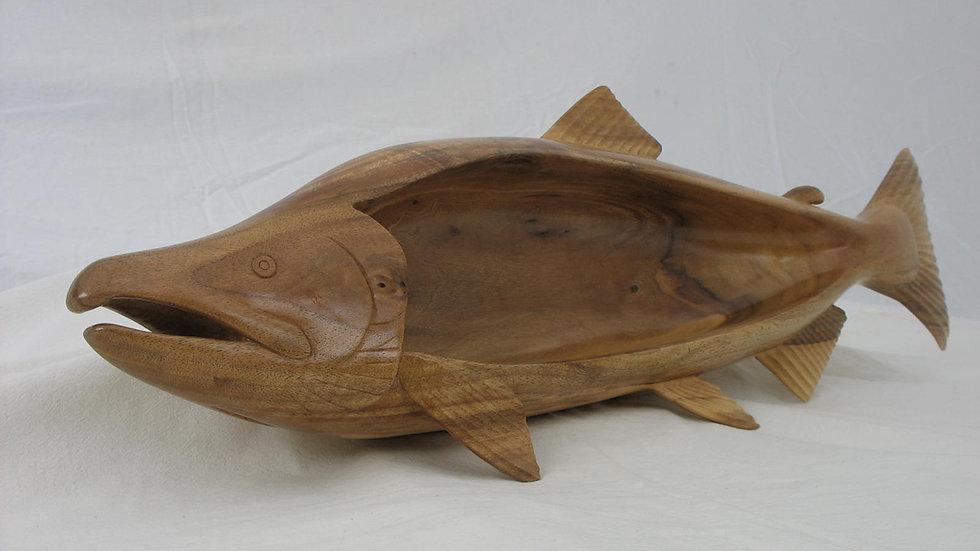 Walnut Wood Chum Salmon Bowl