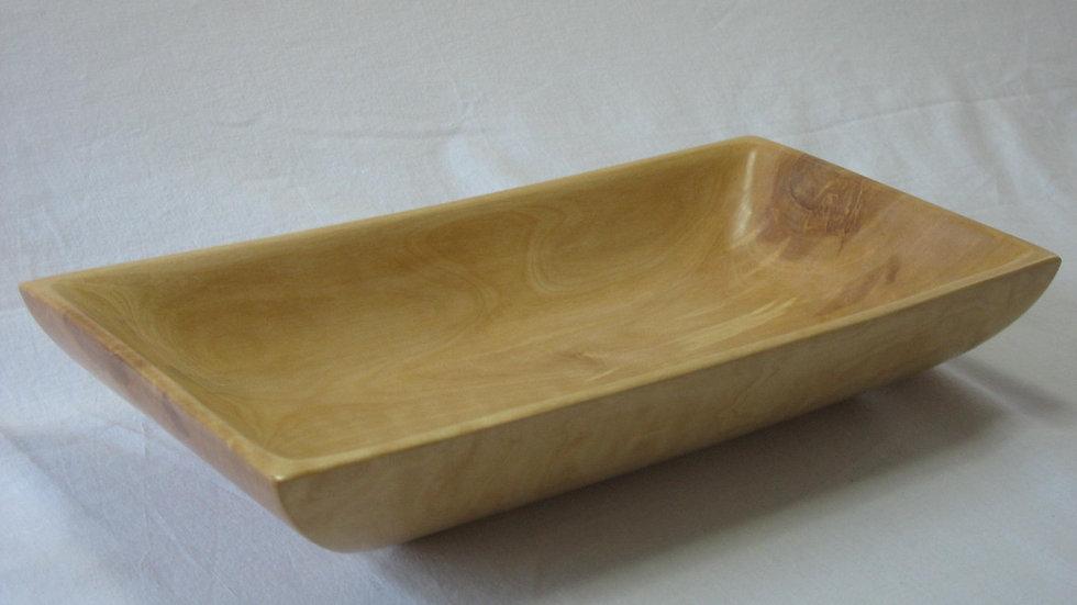 Rectangular Birch Wood Bowl