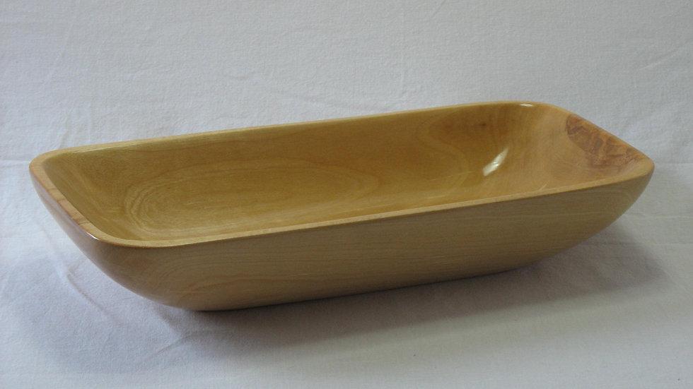 Smaller Rectangular Birch Wood Bowl