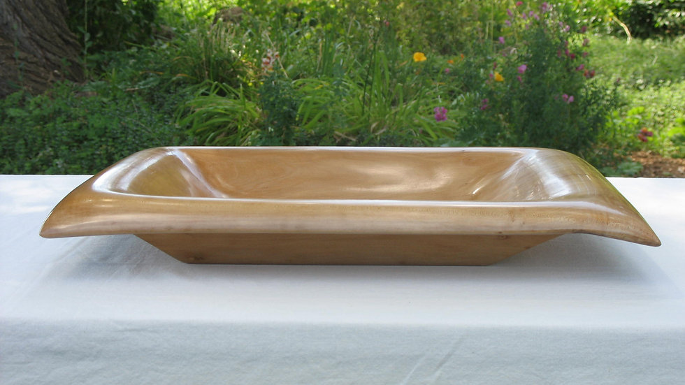 Floating Rectangular Pear Wood Bowl