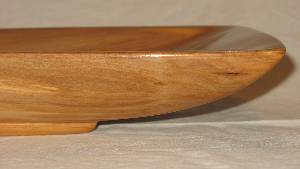 Rectangular Apple Wood Tray with Pedestal Base