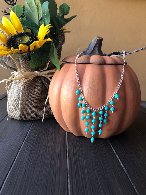 Drops of Teal Necklace