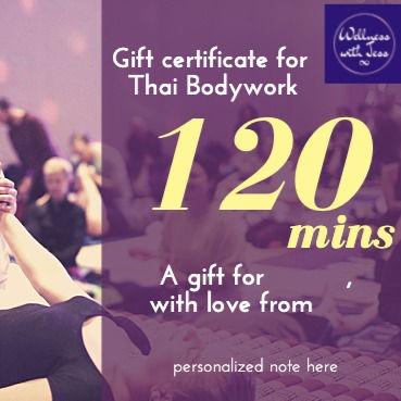 Gift Certificate - Thai Bodywork 120 Min
