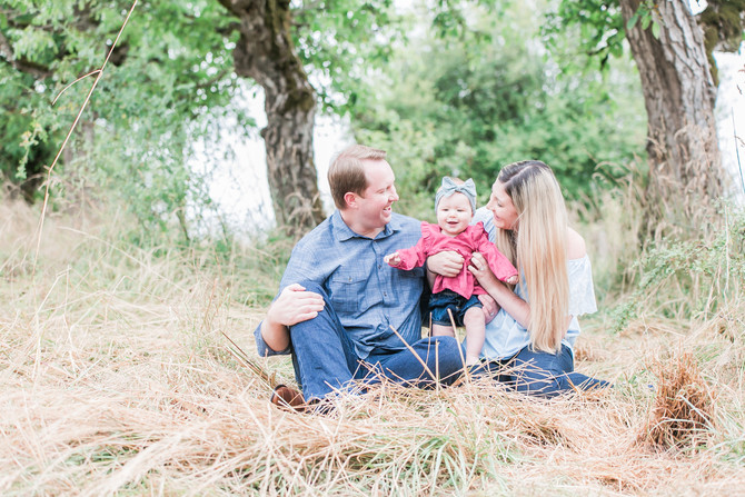 Michael, Brooke & Myla | Powell Butte Family Session