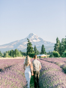 Ethan + Megan | Mt. Hood Lavender Farm Engagement Session