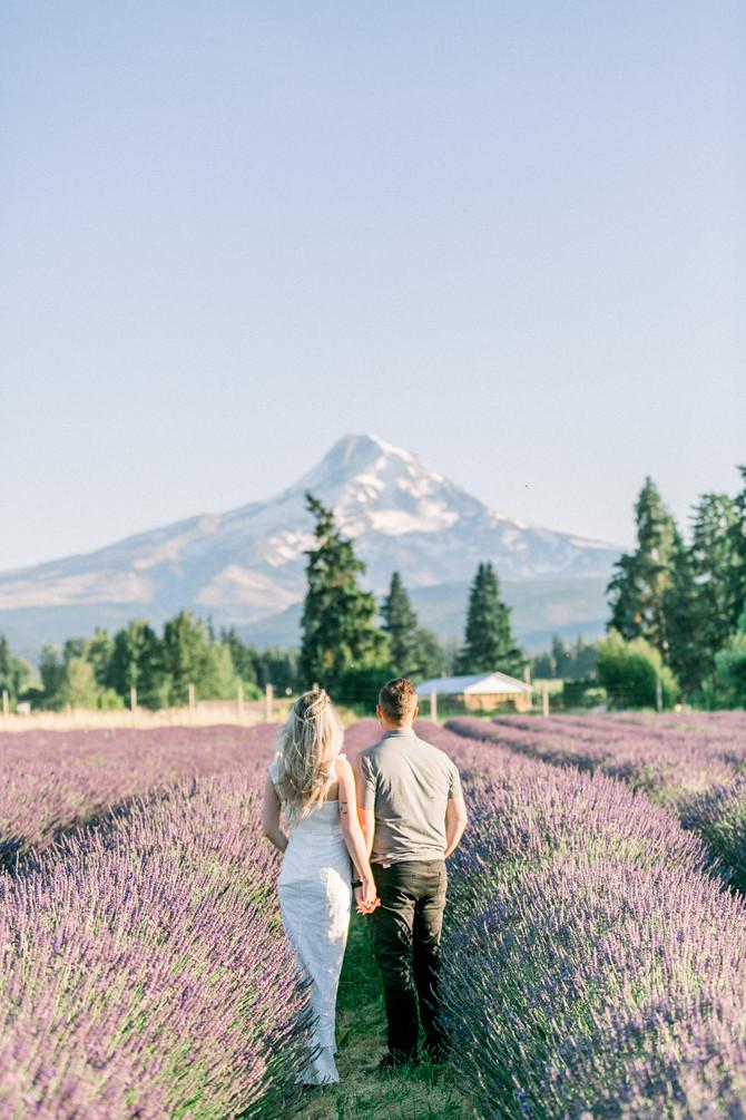 Ethan + Megan | Mt. Hood Lavender Farm Engagement Session