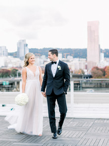 Tyler + Thea | Modern Black Tie Wedding in Downtown Portland