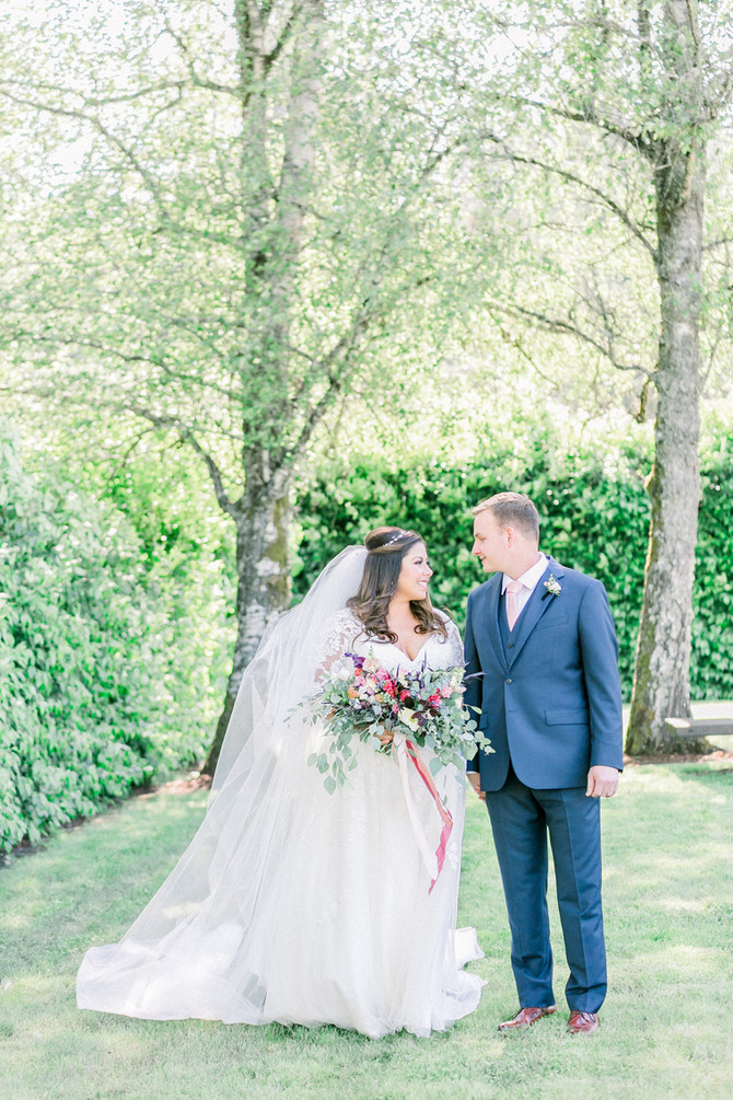 David + Danielle | Intimate, Floral Inspired Winery Wedding | As Seen in Oregon Bride Magazine