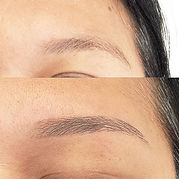 Before and after image of eyebrow shaping in Toronto
