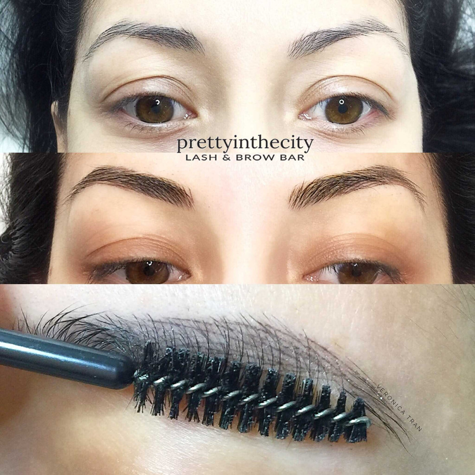 Brunette Eyebrows Microblading