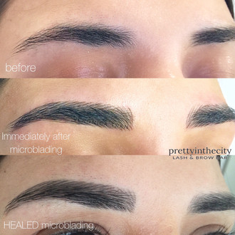 Microblading stages