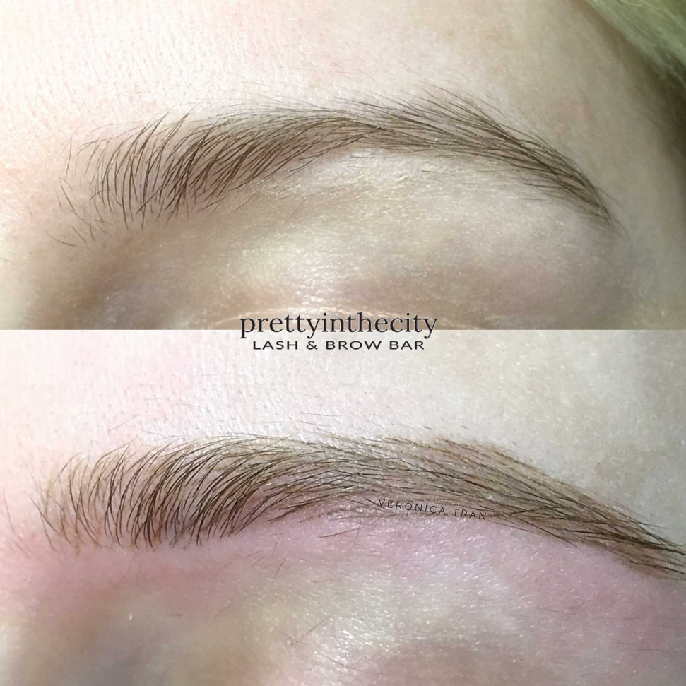 Healed microblading blonde eyebrows