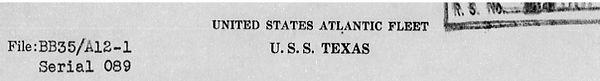 War Diary USS Texas