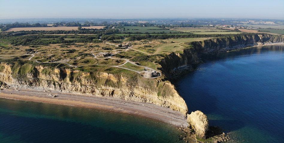 Pointe du Hoc Aerial Photo