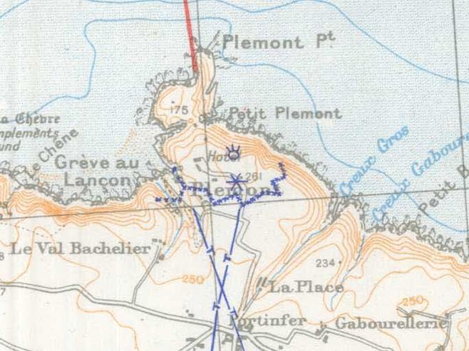 S.H.A.E.F map Aug 1944