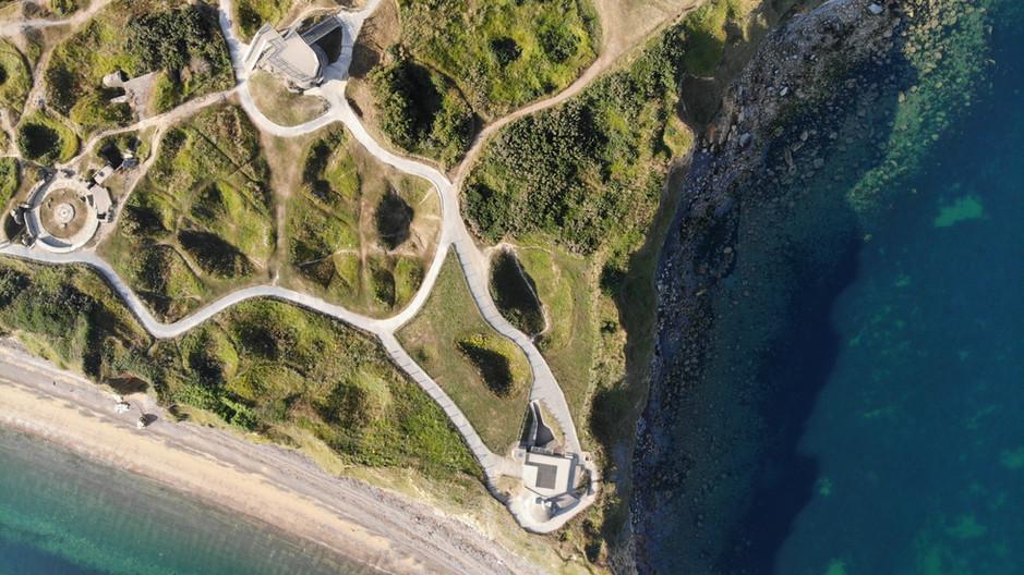 Pointe du Hoc Aerial of H636