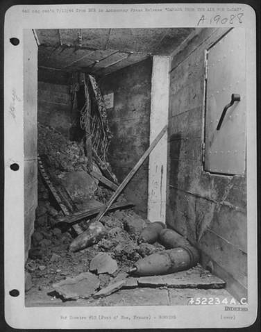 Ammo bunker at Pointe du Hoc