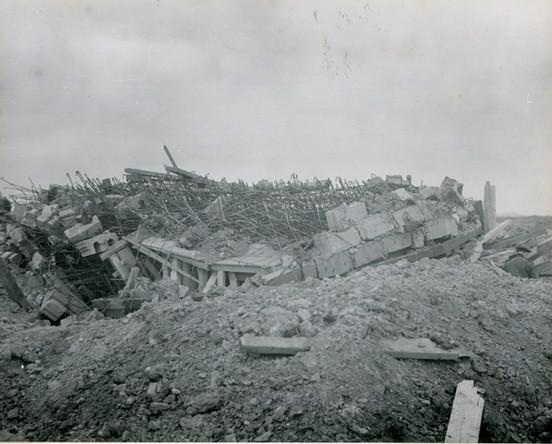 Destroyed bunker at Pointe du Hoc