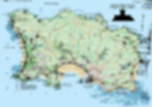 Map of Bunkers on Jersey