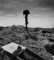 Pointe du Hoc Battlefield Grave