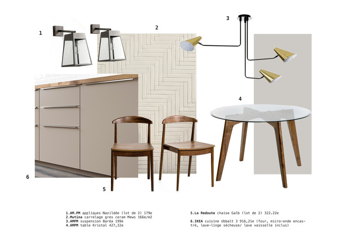 Planche tendance/ Shopping list #Project #Vincennes #Kitchen