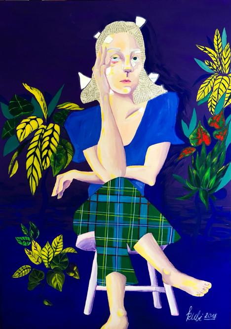 2018, Acryl auf Leinwand 50 x 70 cm (verkauft)