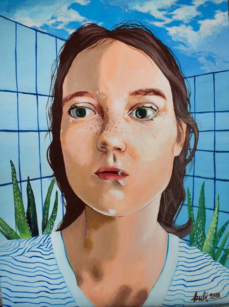 2018, Acryl auf Leinwand 30 x 40 cm