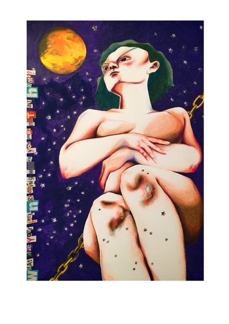 2019, Acryl auf Leinwand 50 x 70 cm