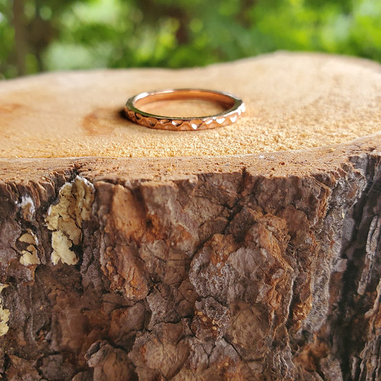 Hammered stacking ring RG add on