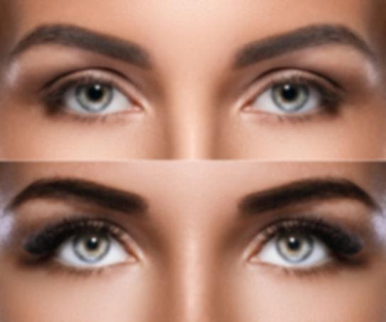 Eyebrow microblading and eyelash extensi